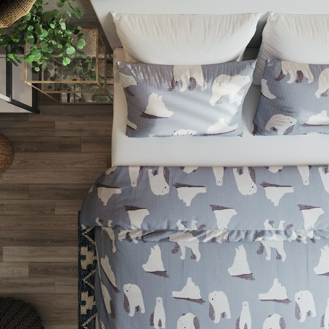 Pillow case 263 Bears on grey