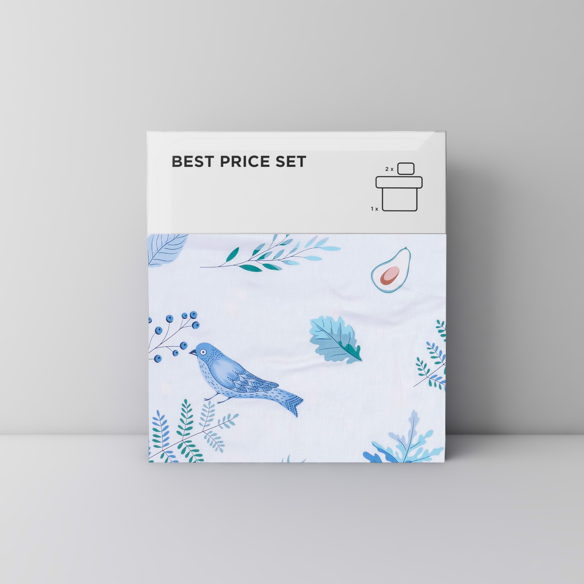 Best price 125 Blue avocado & bird