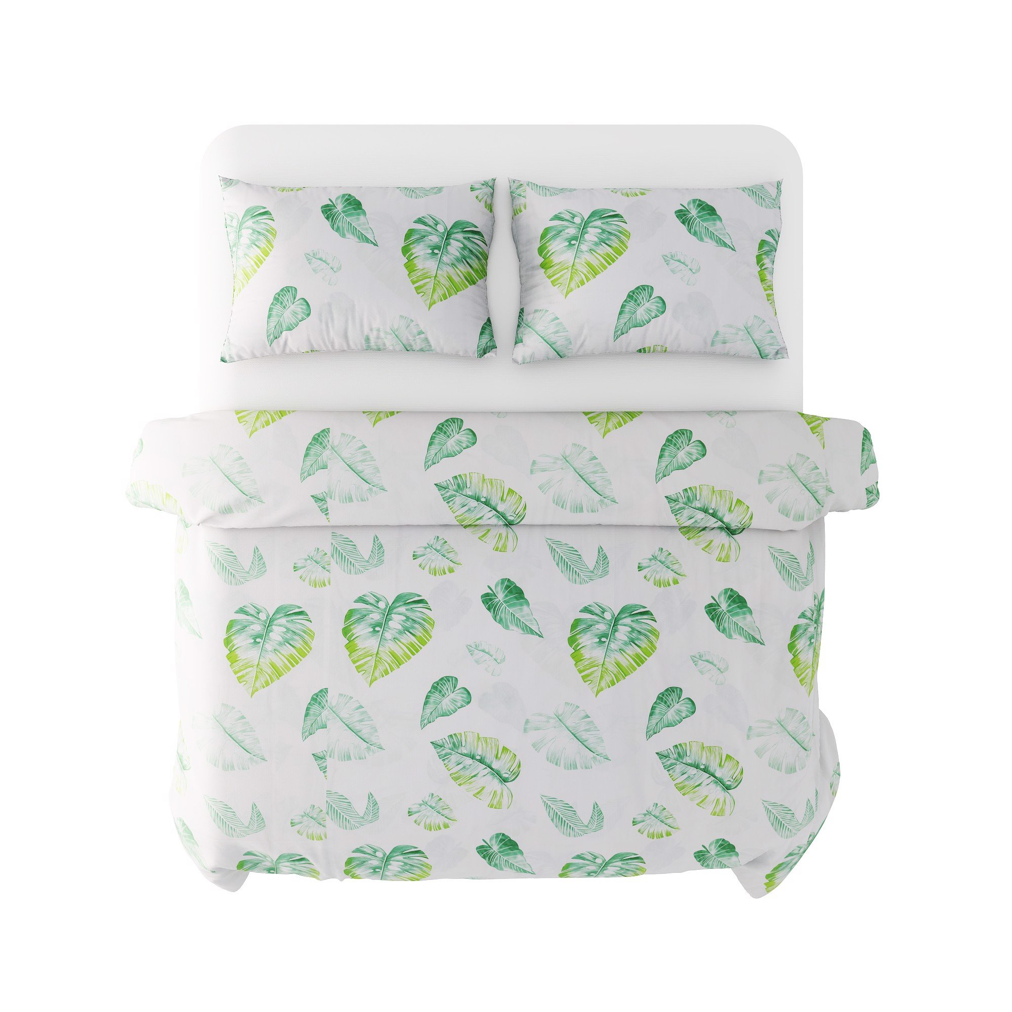 Best price 143 Green leaves on white