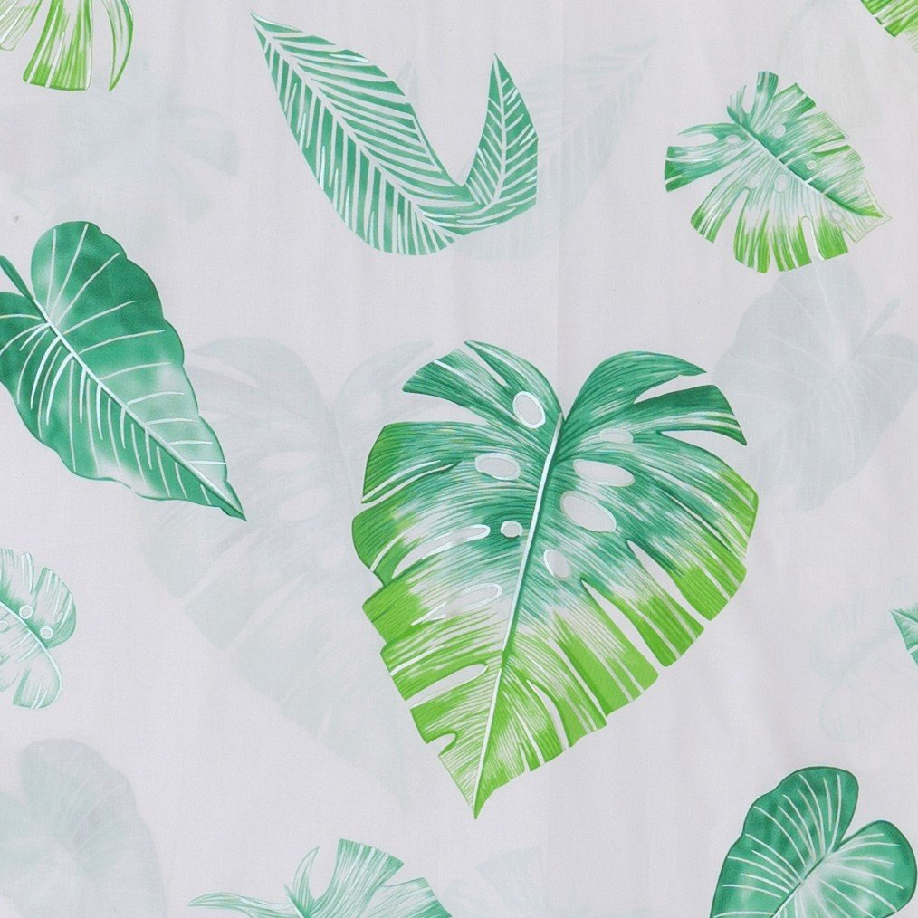 Pillow case 189 Green leaves on white