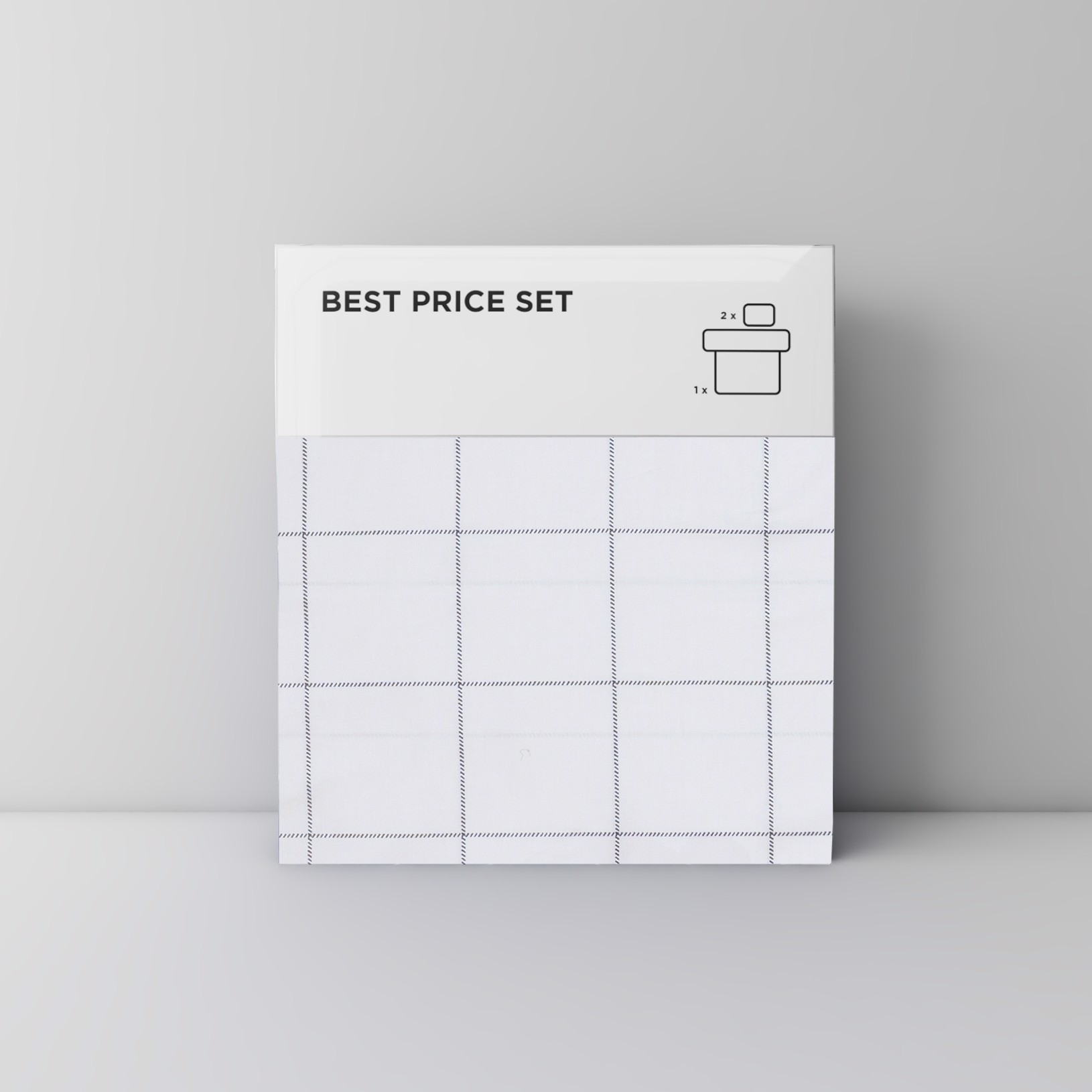 Best price 147 Black grid on white