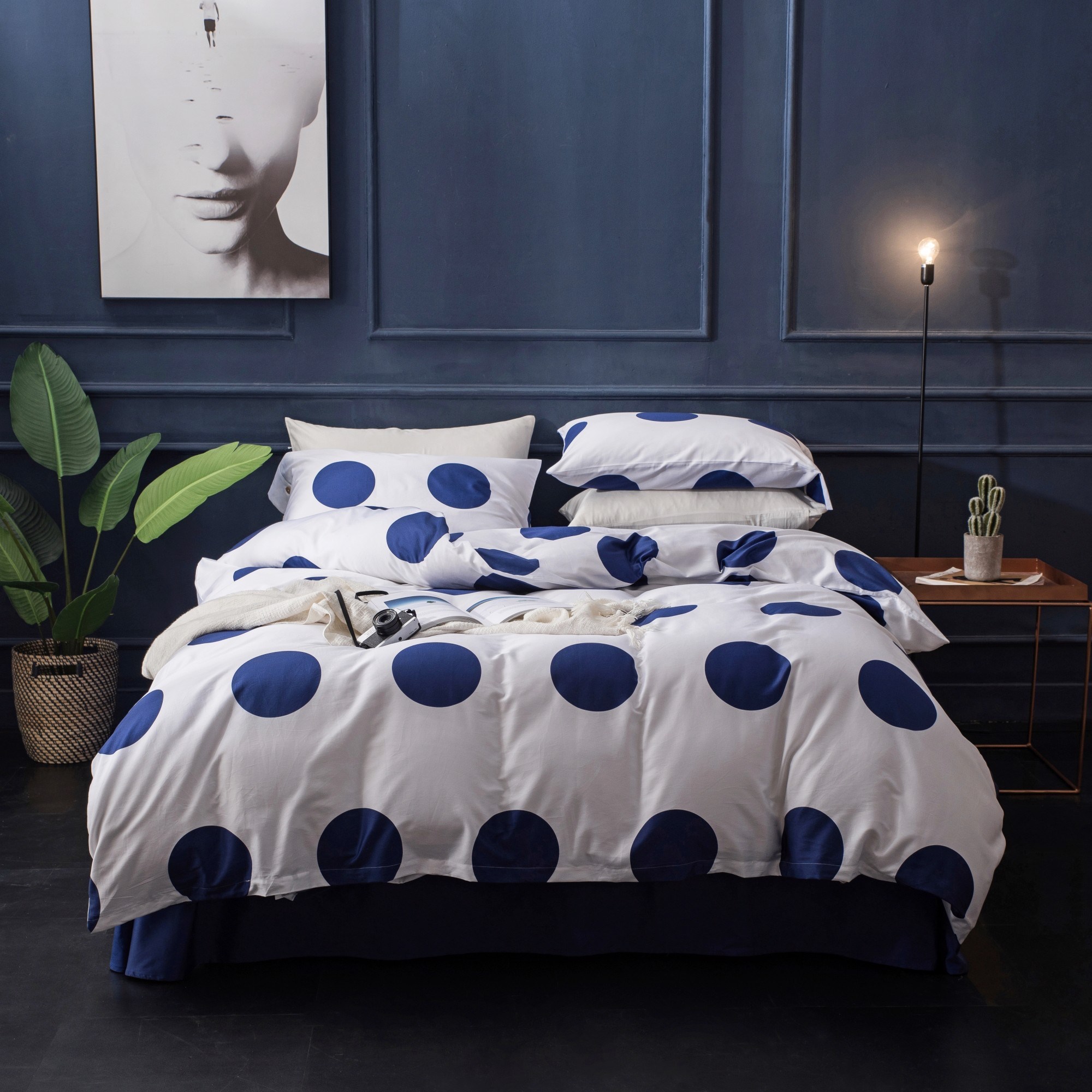 Best price 166 Navy poka dot