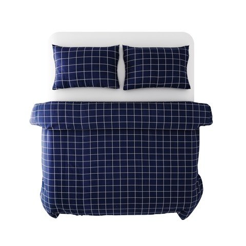 Best price 186 White grid on navy