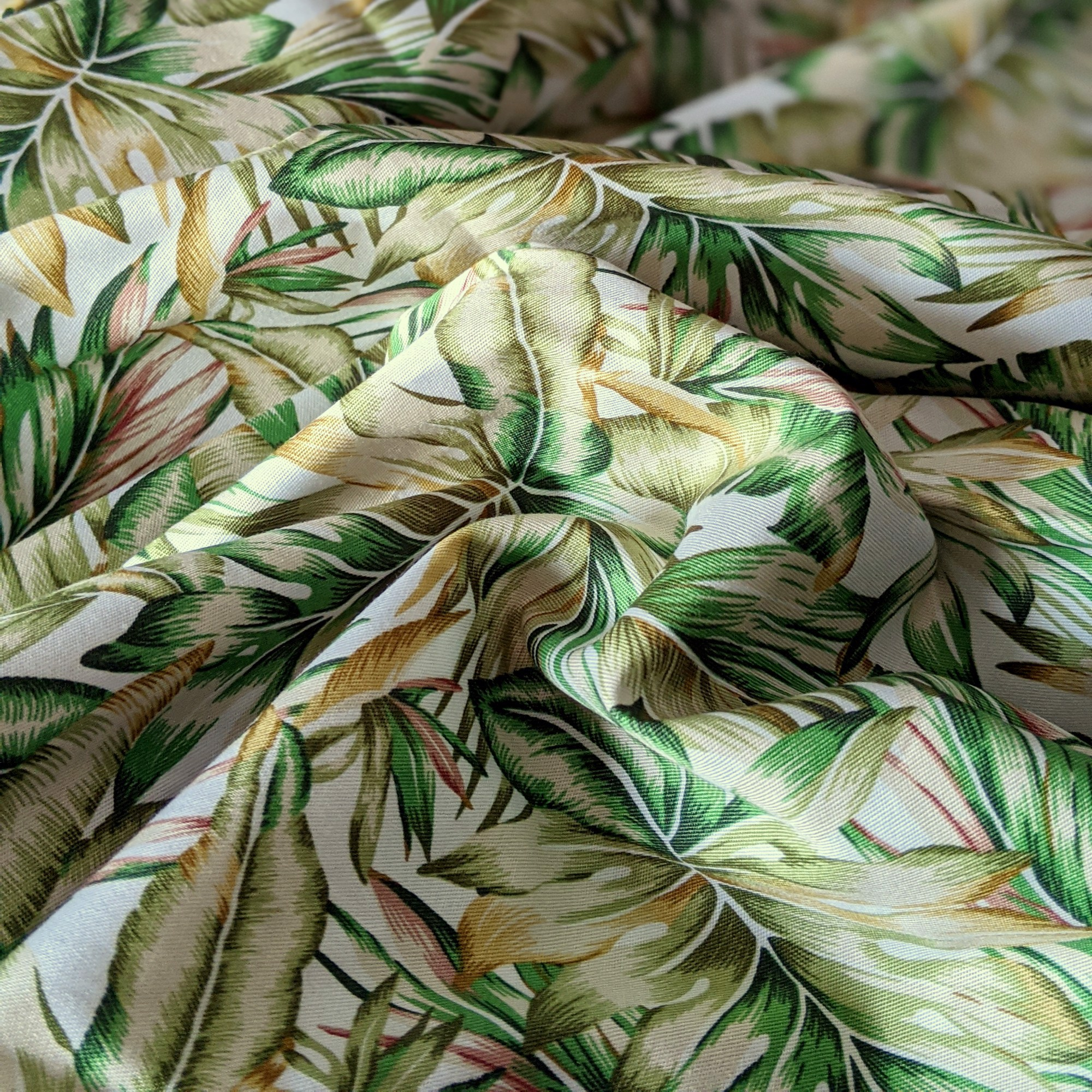 Pillow case 253 Tropical leaves