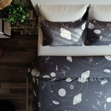 Pillow case 260 Solar system on grey