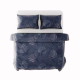 Best price 219 Tencel White leaves on blue