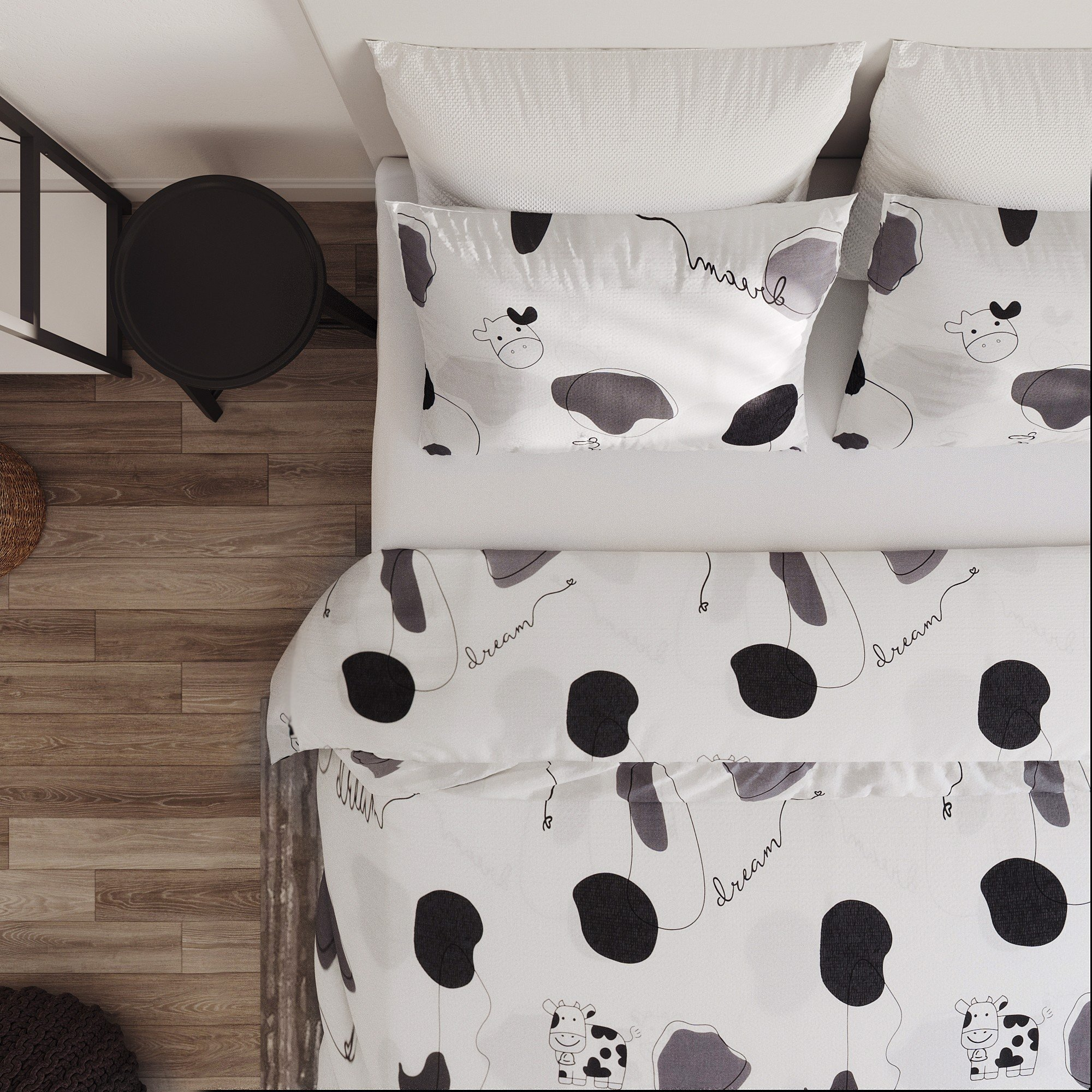 Piollow case 295 Tencel Diary cow