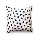Cushion cover 70 Black balls on white
