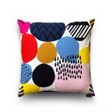 Cushion cover 71 Colourful circles on white