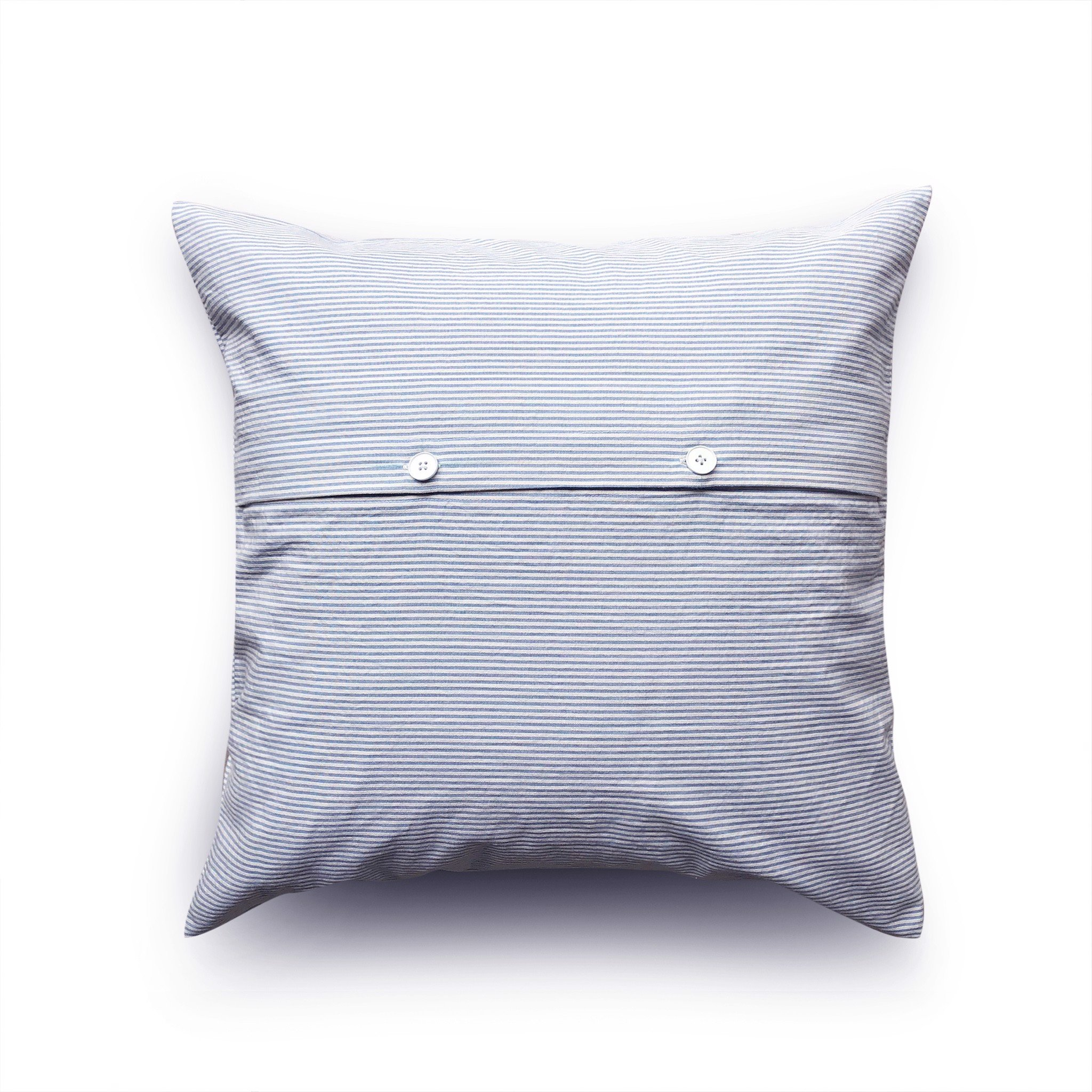 Cushion cover 69 Blue white stripes