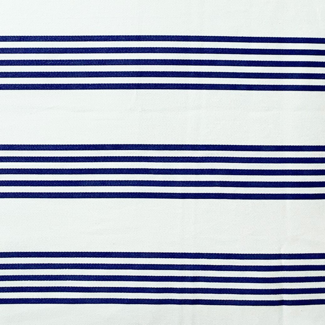 Cushion cover 82 Navy stripe on cream