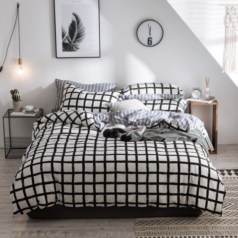 Best price 126 Black grid on white