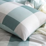 Pillow case 167 Vintage green checkerboard