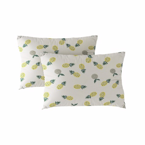 Pillow case 127 Yellow pineapples