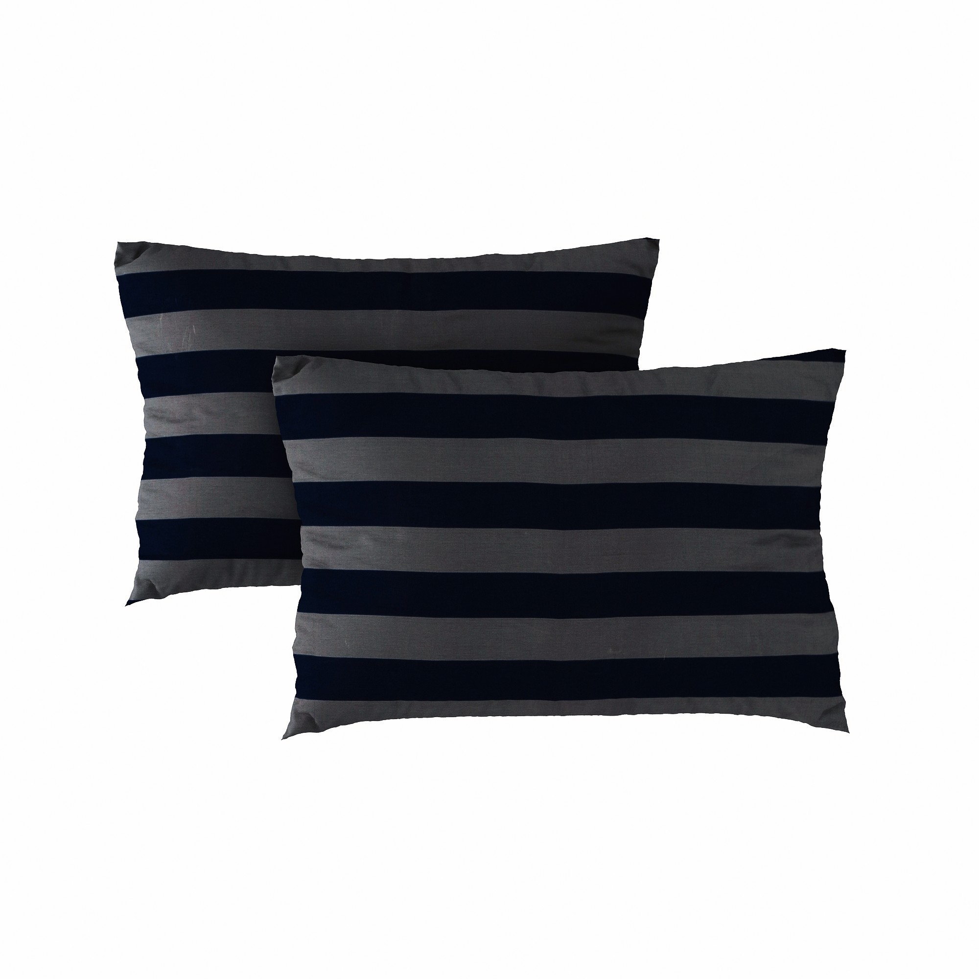 Pillow case 150 Grey navy striped
