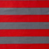 Pillow case 155 Red and dark grey stripe