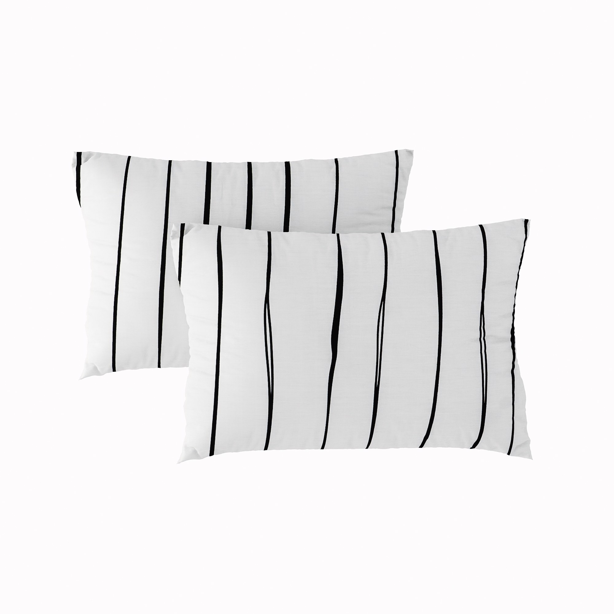 Pillow case 164 BW hand painted stripe