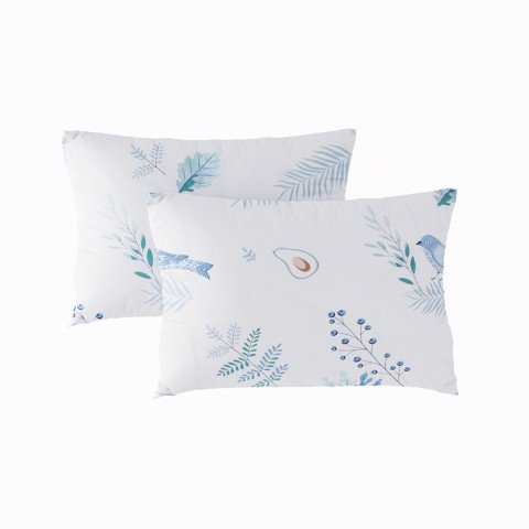 Pillow case 171 Blue avocado & bird