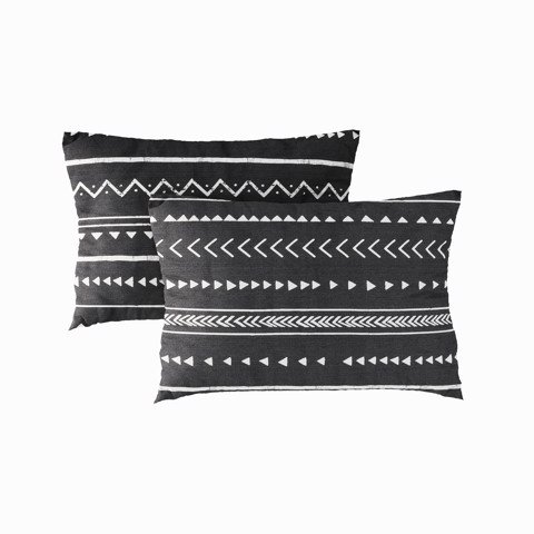 Pillow case 173 Black and white bohemian