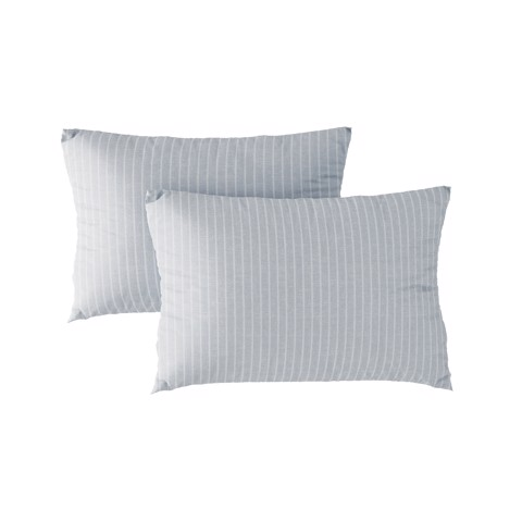 Pillow case 194 Light grey stripe