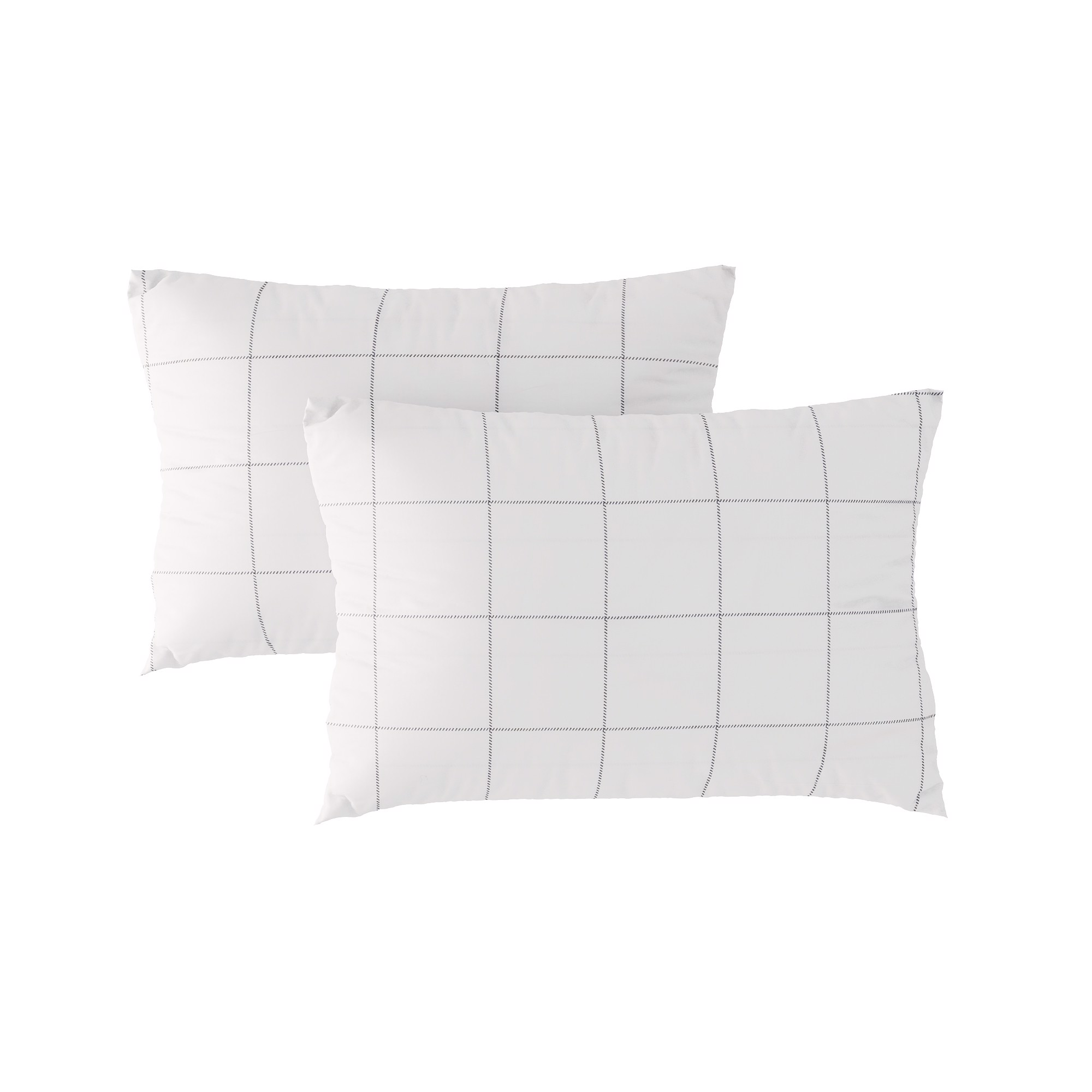 Pillow case 193 Black grid on white