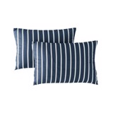 Pillow case 200 Navy and White Stripes