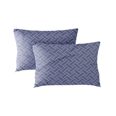Pillow case 203 Blue interwoven