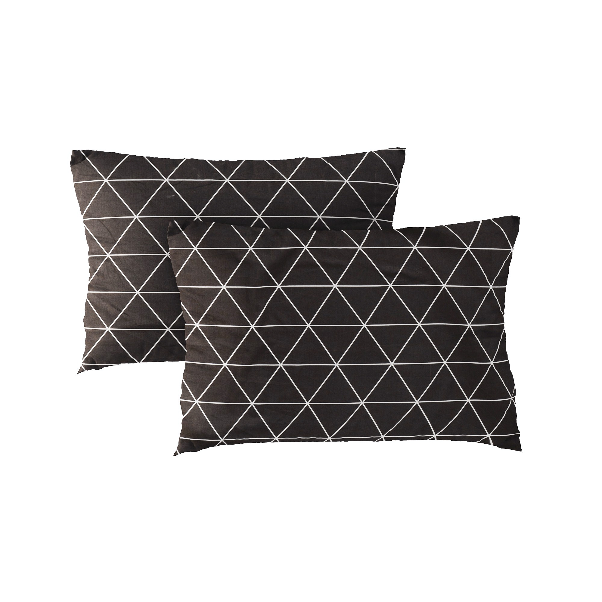 Pillow case 225 White triangle on dark grey