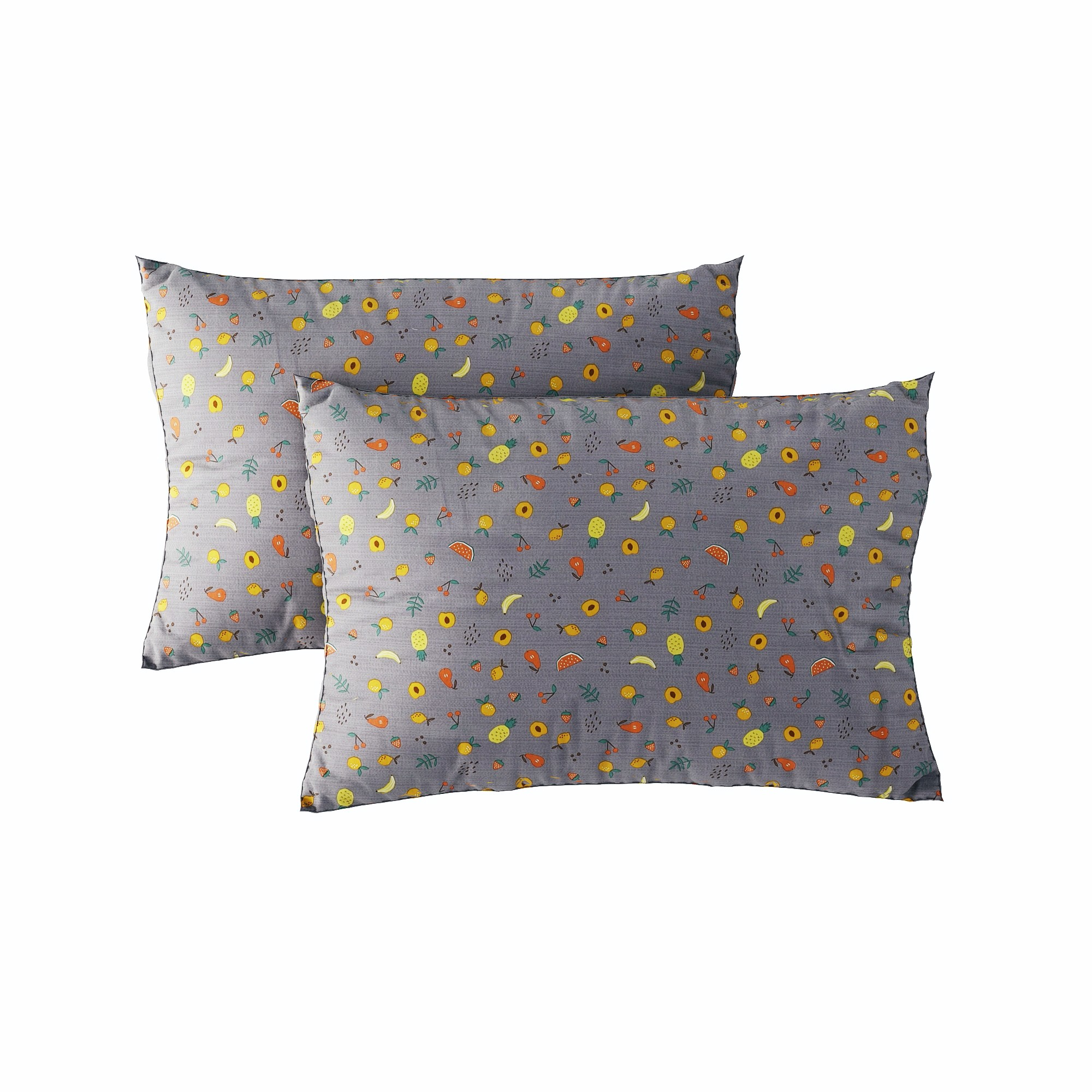 Pillow case 236 Tropical fruits on grey