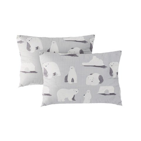 Pillow case 262 Bears on light grey