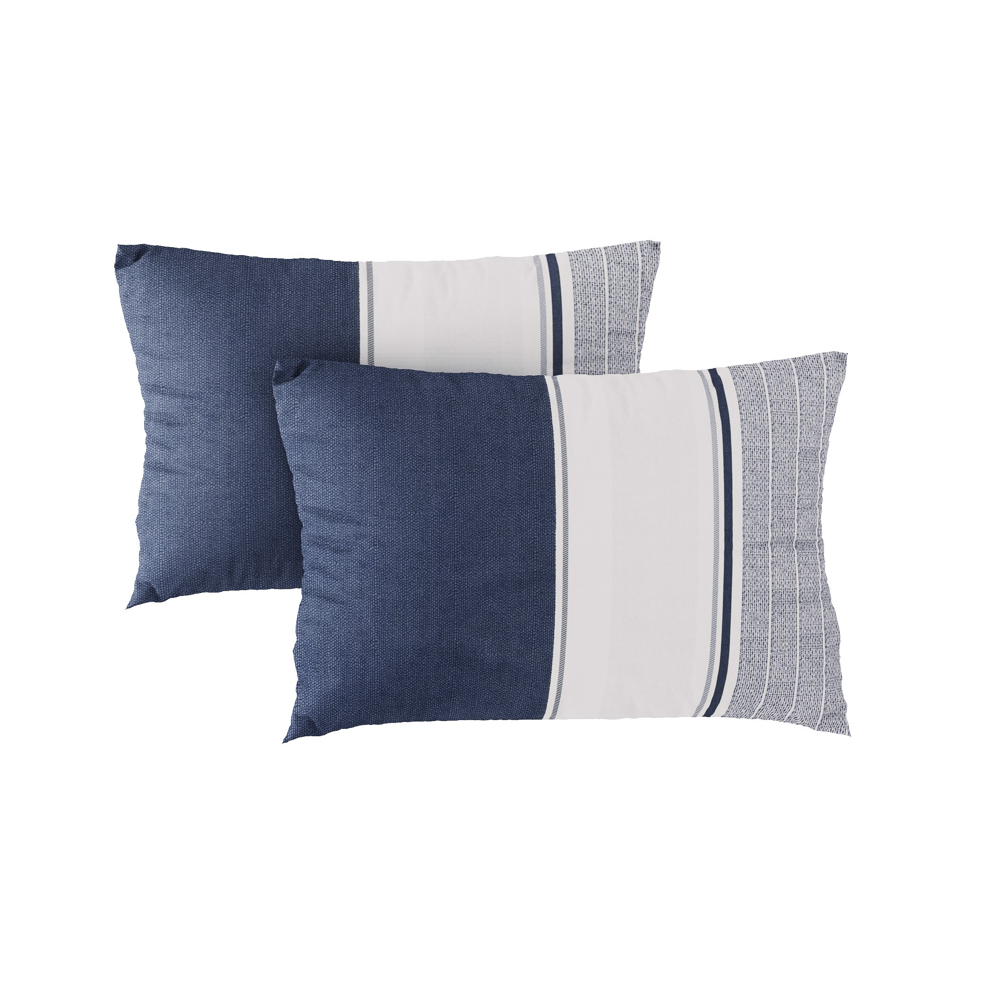 Pillow case 265 Navy and white stripes