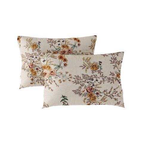 Pillow case 286 Flowers on beige