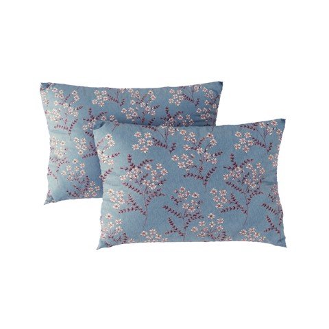 Pillow case 287 Flowers on blue