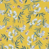 Pillow case 192 Flowers on yellow