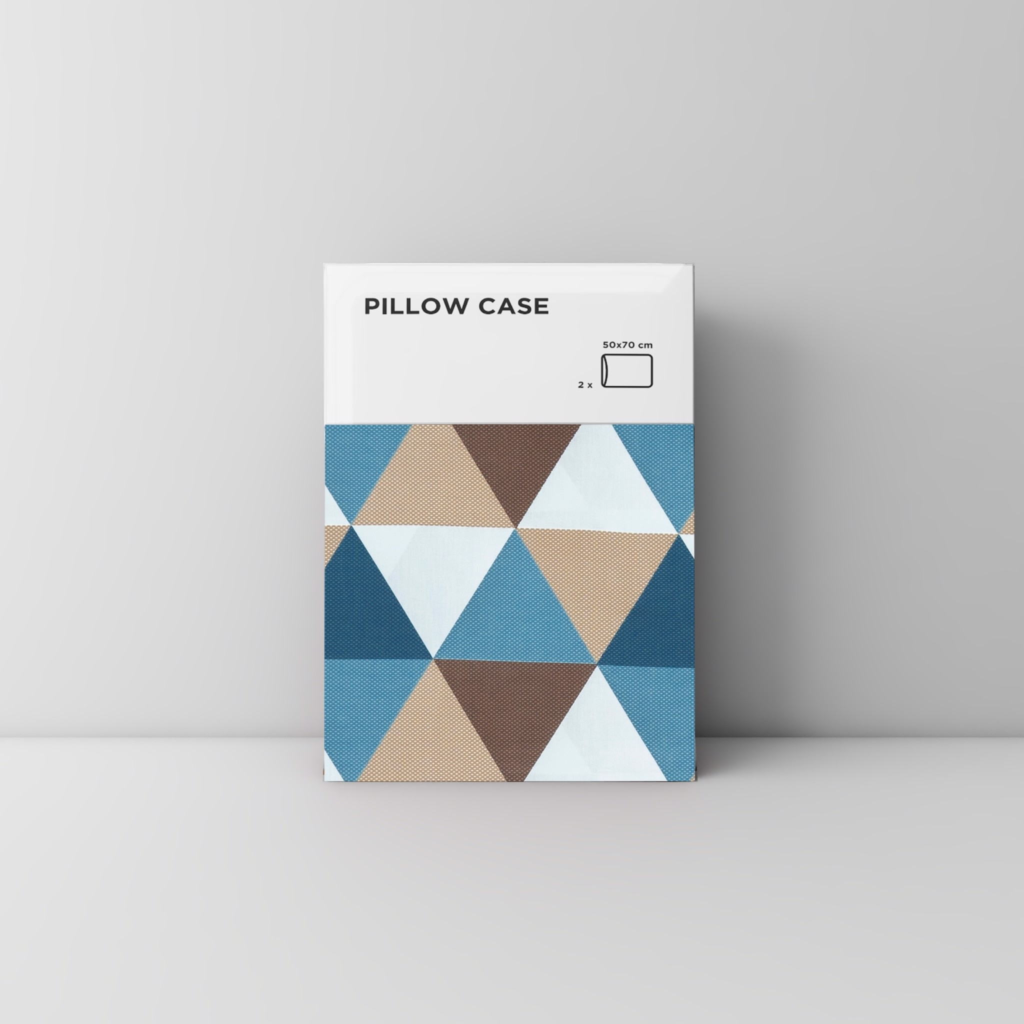 Pillow case 183 Brown blue triangle
