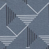 Pillow case 185 Basic stripe on grey blue