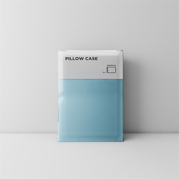 Premium pillow case 04 Baby blue (2pcs)