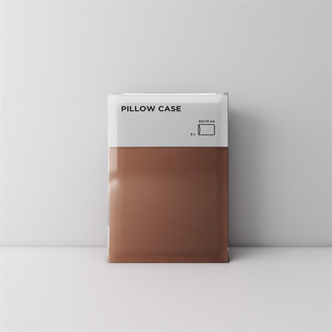 Premium pillow case 13 Dark brown (2pcs)