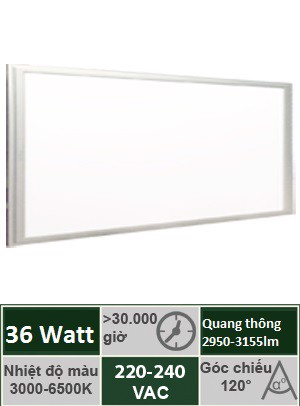Đèn Panel Tấm 300x1200 36W Vinaled PL-DS3630/PL-DW3630