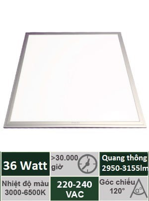 Đèn Panel Tấm 600x600 36W Vinaled PL-DS3660/PL-DW3660