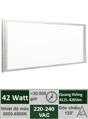 Đèn Panel Tấm 300x1200 42W Vinaled PL-DS4230/PL-DW4230