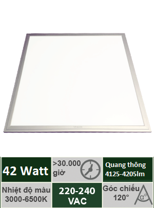 Đèn Panel Tấm 600x600 42W Vinaled PL-DS4260/PL-DW4260