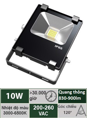 Đèn Led Pha 10W Vinaled FL-BB10
