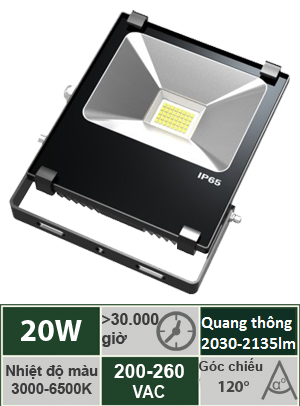 Đèn Led Pha 20W Vinaled FL-BB20