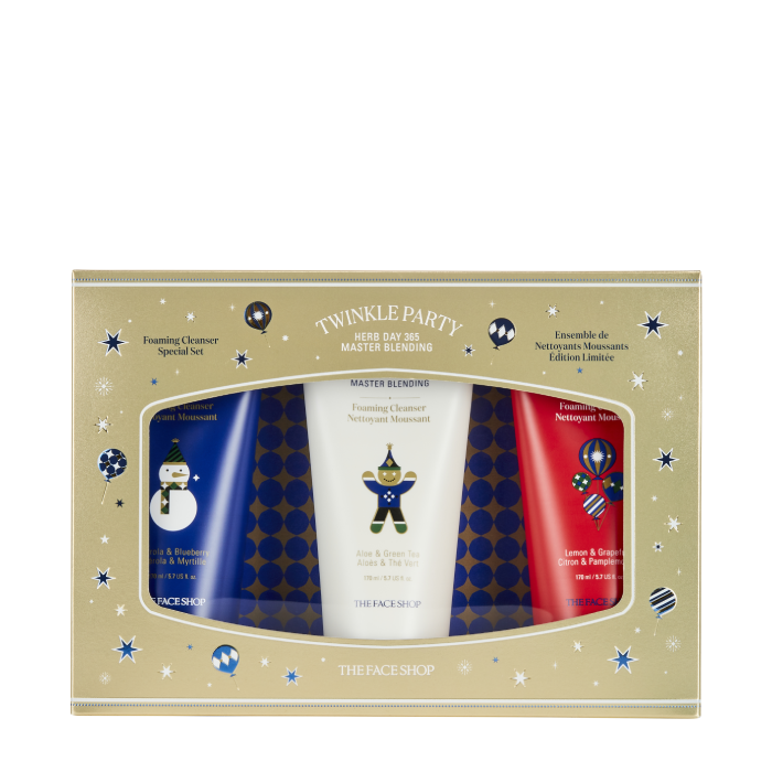 [X'MAS HOLIDAY] Bộ Sữa Rửa Mặt HERB DAY 365 MASTER BLENDING FOAM CLEANSER SPECIAL SET