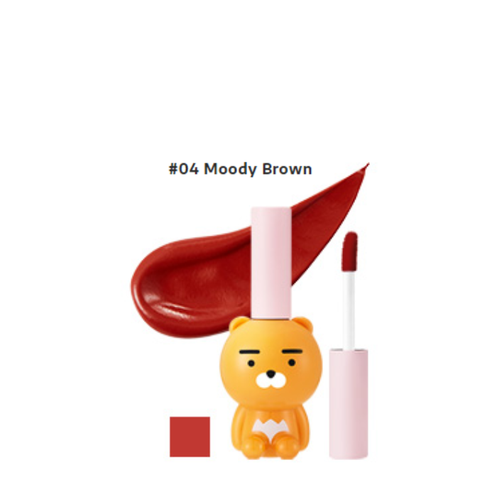 [KAKAO x RYAN] Son Nước Lì RYAN VELVET LIP TINT 5g (04 Moody Brown)