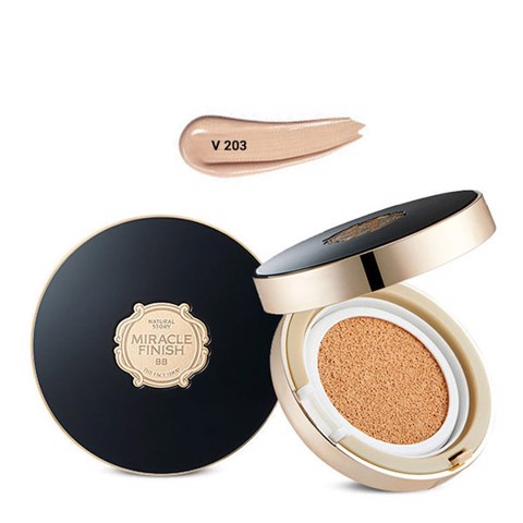 Phấn Nước Che Khuyết Điểm MIRACLE FINISH BB POWER PERFECTION CUSHION SPF50+ PA+++ V203