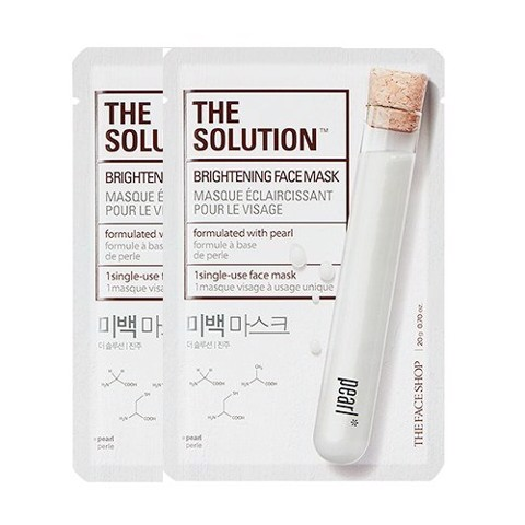 Mặt Nạ Làm Sáng Da THE SOLUTION BRIGHTENING FACE MASK ( 2 sheets)