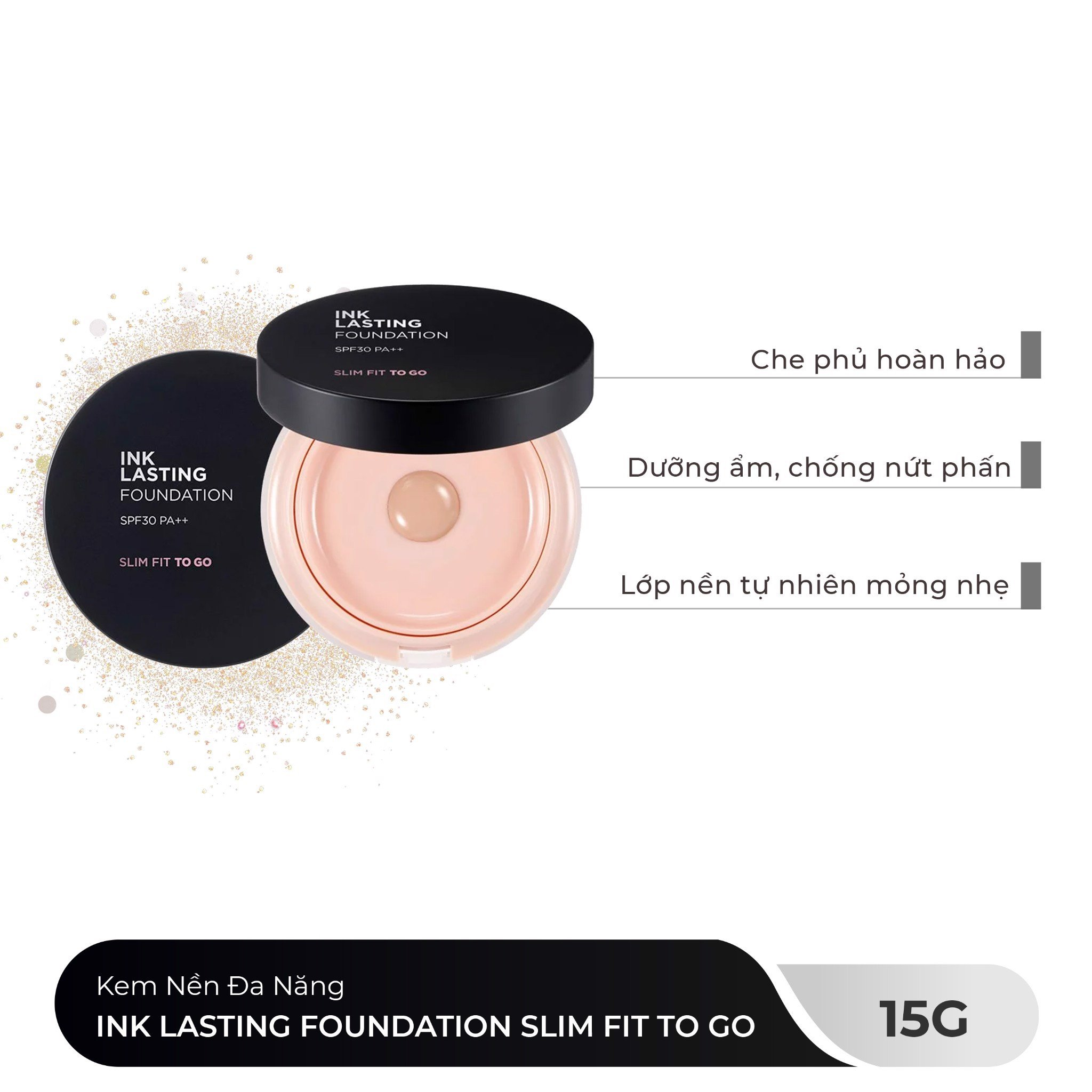 Kem Nền Đa Năng INK LASTING FOUNDATION SLIM FIT TO GO 15g