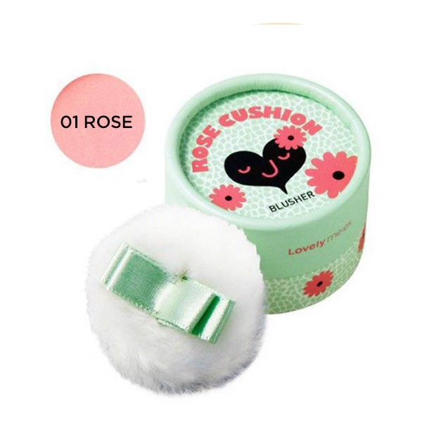 Phấn Má Hồng LOVELY MEEX PASTEL CUSHION BLUSHER 01 ROSE CUSHION
